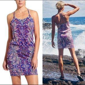 Athleta Aqualuxe Paradise Print Swim Dress